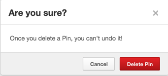 sure you want to delete that pinterest pin photo photograph image