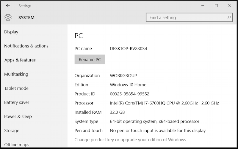 your pc settings on microsoft windows 10.1 includes version of OS and 32bit or 64bit