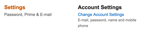 account settings, amazon.com account