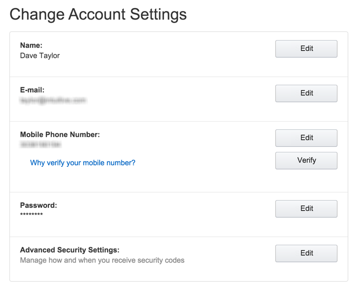 account settings and preferences, amazon.com