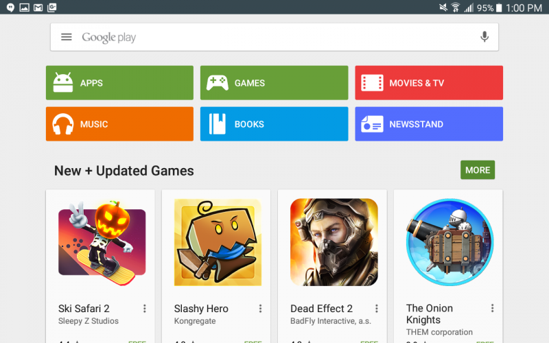 google play store, pushing games