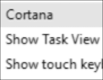 how to hide cortana icon windows 10 win10 taskbar