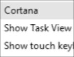 how to hide cortana icon windows 10 win10 taskbar