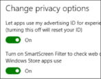 win10 advertising id privacy settings preferences