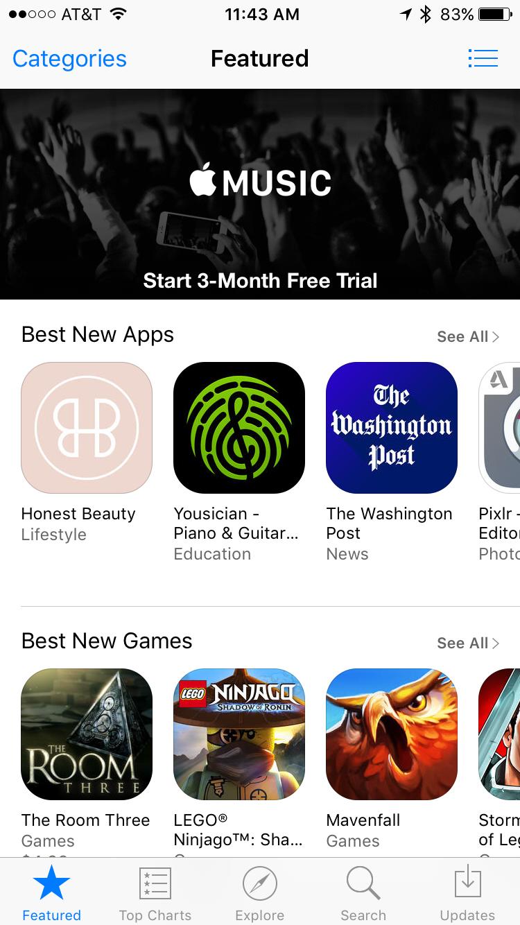 apple ios iphone app store