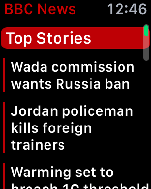 breaking news top stories apple watch bbc news app