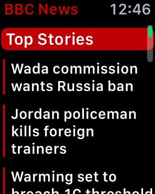breaking news top stories apple watch bbc news app