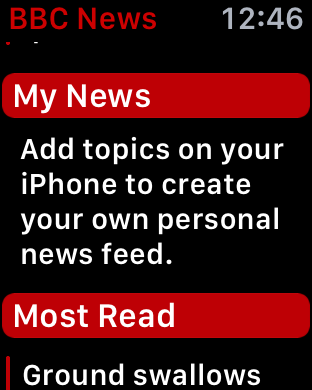 how to set up my news on bbc news app apple watch