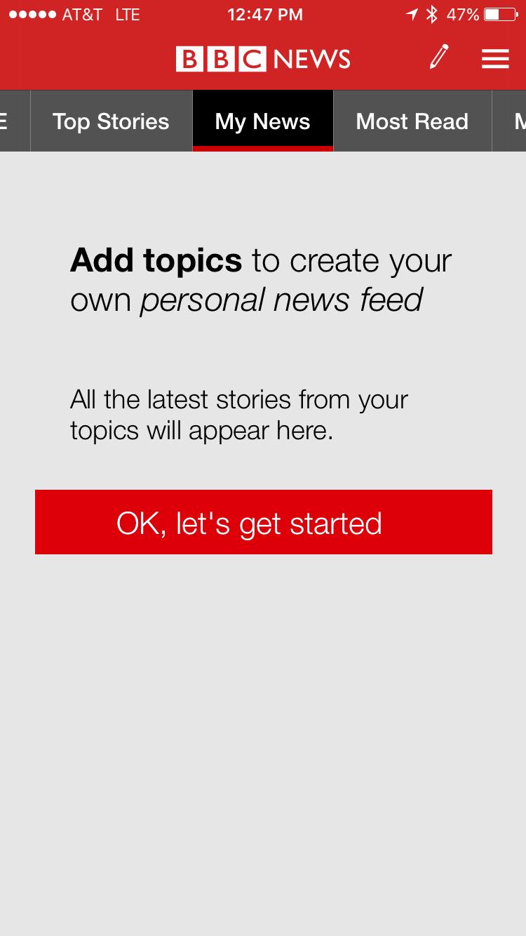 add my news to bbc news app iphone ios