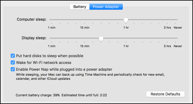 how to run a mac on low power