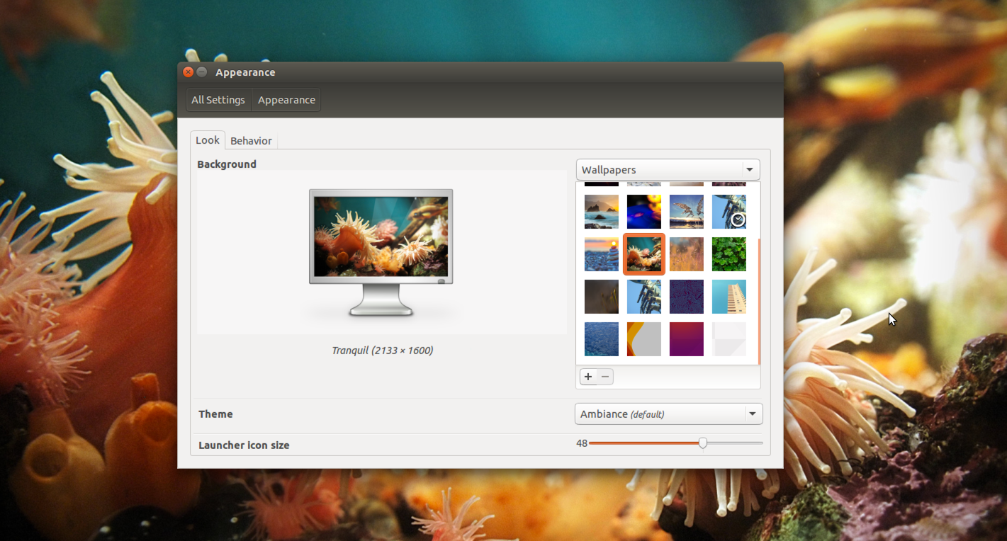 Preview Behind New Ubuntu Linux Desktop Picture Wallpaper