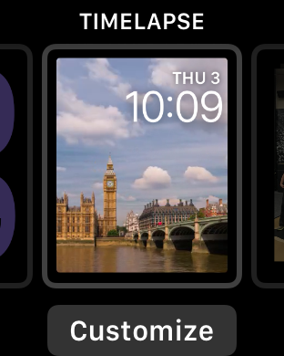 apple watch time lapse face, london