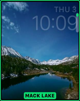 mack lake landscape timelapse apple watch face