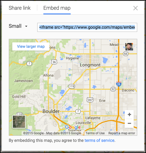 small map, ready to embed on blog or web page