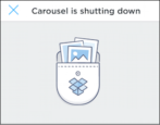 carousel shutting down, migrate move to dropbox apple iphone