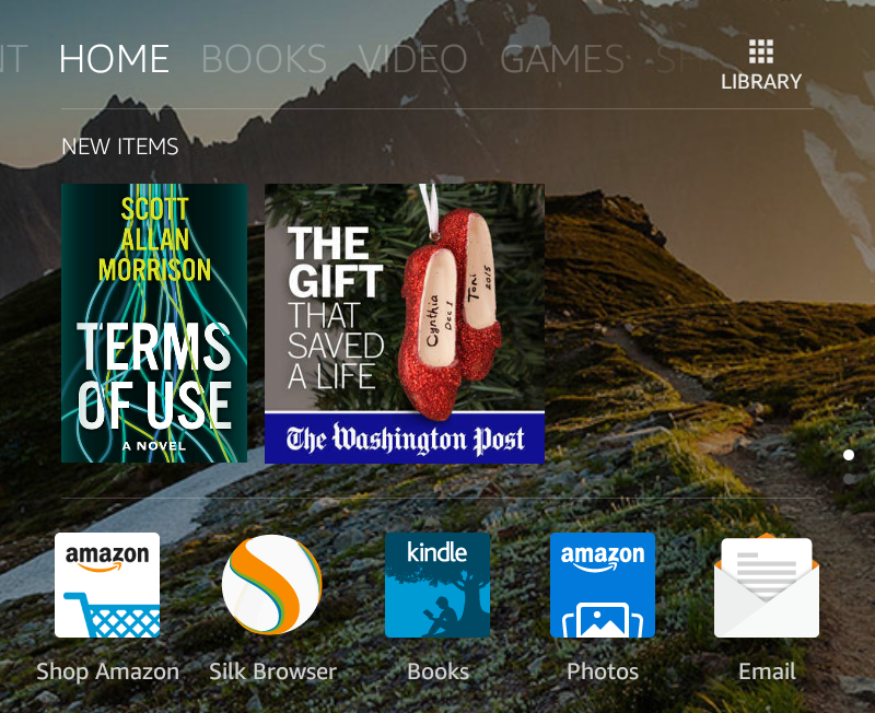 "choose ""Kindle"" from the amazon kindle home page fire os 5"