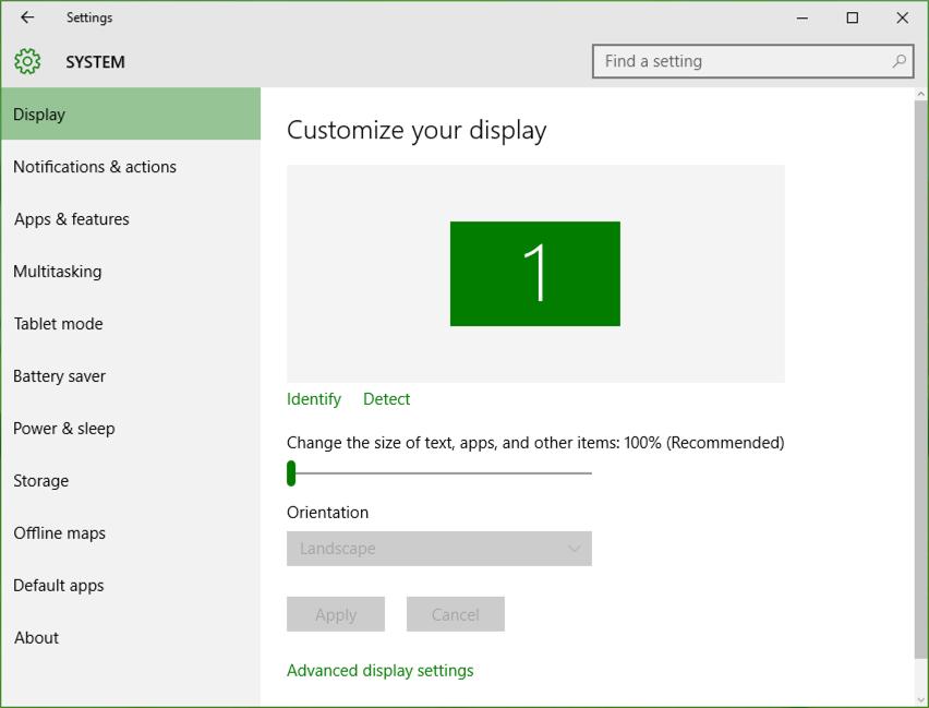win10 windows 10 display preferences settings