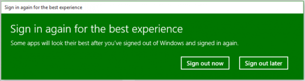 sign in again for the best experience