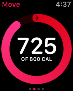 calories burned, apple watch activity monitor