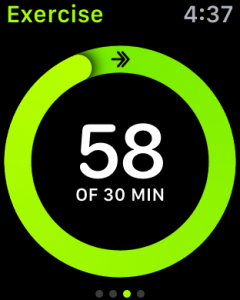 time spent exercising, apple watch activity monitor