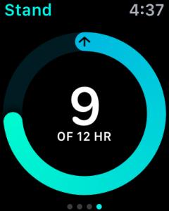 hours standing, apple watch