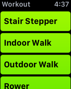 what exercise, apple watch activity monitor, stair stepper, indoor walk, outdoor walk, rower