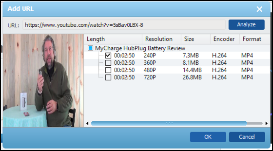 download format size, youtube