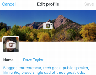 Change Your Twitter Profile Photo From Iphone Ios Ask Dave Taylor