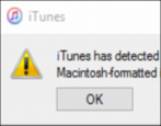 fixing a mac formatted ipod windows 7 10 itunes