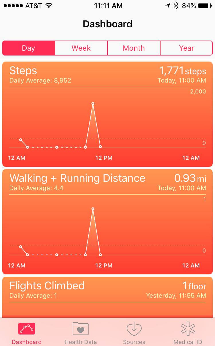 apple iphone 5 6s ios 9 fitness tracker health app pedometer