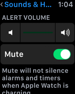 how to mute your apple watch