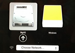 mac os x, booting with option key, offers choices