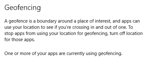 geofencing warning location history tracking privacy windows 10 win10