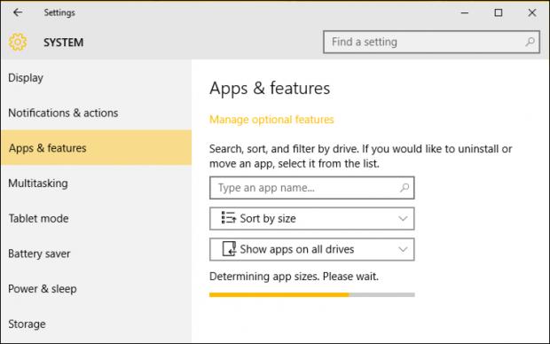 windows 10 win10 system settings > add or remove program