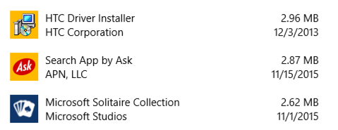 apps programs listed for removal win10.1