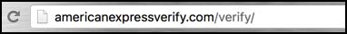 amex phishing url