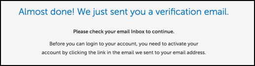 sent verification email