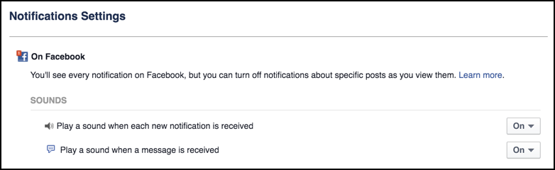 how to turn off sms notification on fb