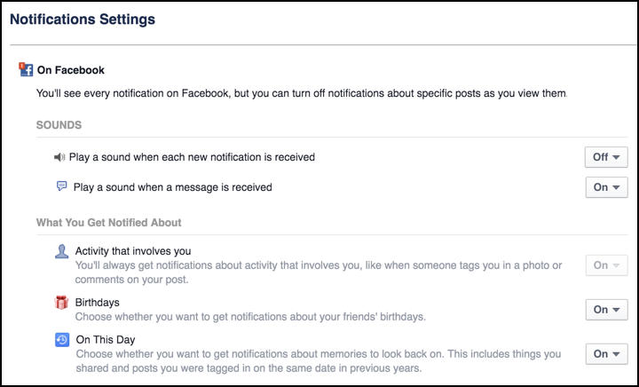 How do I enable Facebook On This Day Notifications? - Ask Dave Taylor