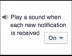 how to turn on off mute notification alert setting facebook fb