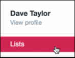 create work with add delete twitter list lists