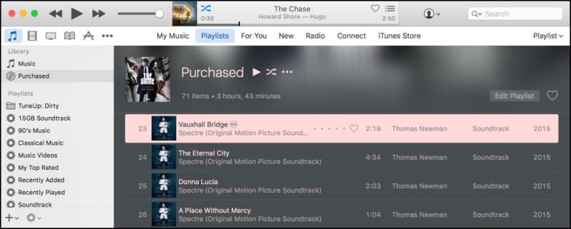 purchased playlist, itunes mac