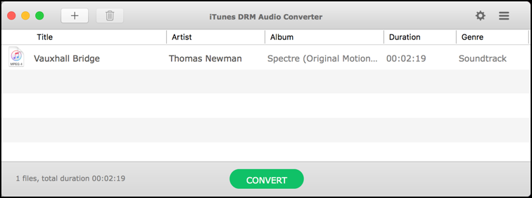 choose which track to convert and remove DRM protection