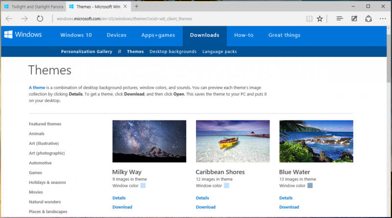 download new landscape themes in windows 10 ask dave taylor