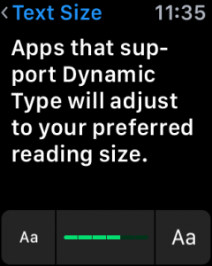 larger text, apple watch os 2 edition sport settings