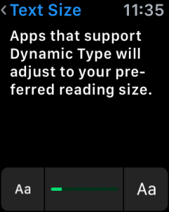 apple watch os 2 settings text size