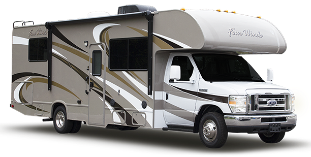 typical class c motorhome motor home rv