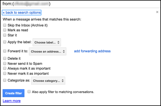 create gmail filter 2