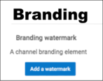 how to set up branding watermark youtube video videos channel