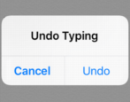 disable turn off enable shake to undo typing apple iphone ipad ios